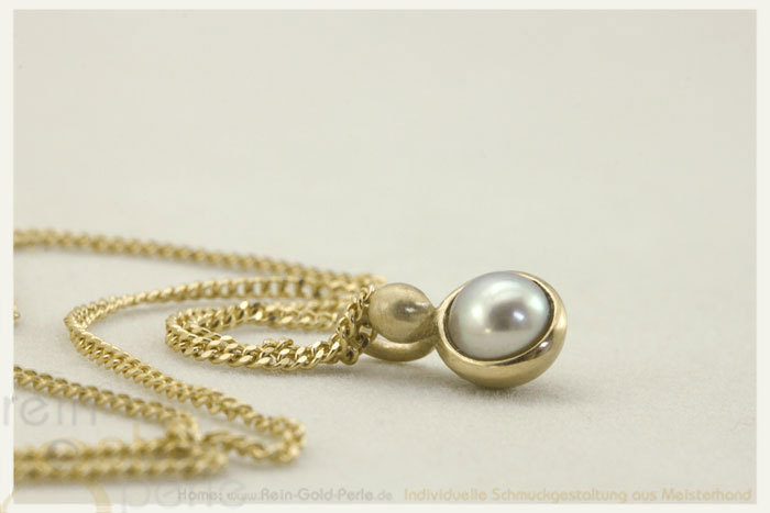 Kette - Globe twisted - 585 Gold, Perle