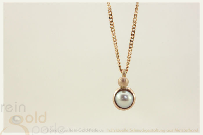 Kette - Globe twisted - 585 Rotgold, Perle