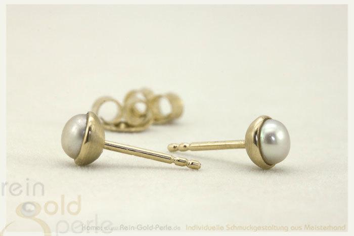 ohrstecker gold mit perle
